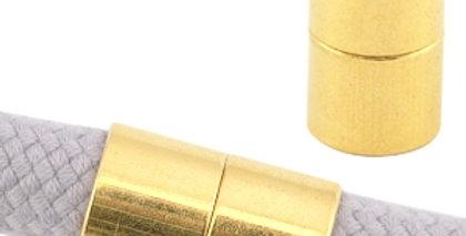 DQ metalen magneetslot Ø10.5mm Goud (nikkelvrij) - 2stuks