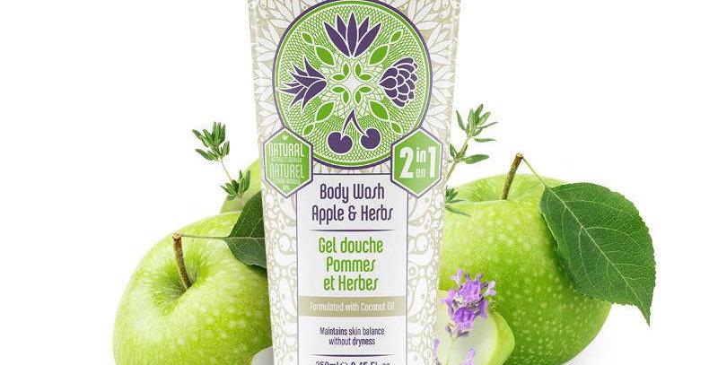 Shampoo Body Wash Apple Herbs Vegan All-in-one
