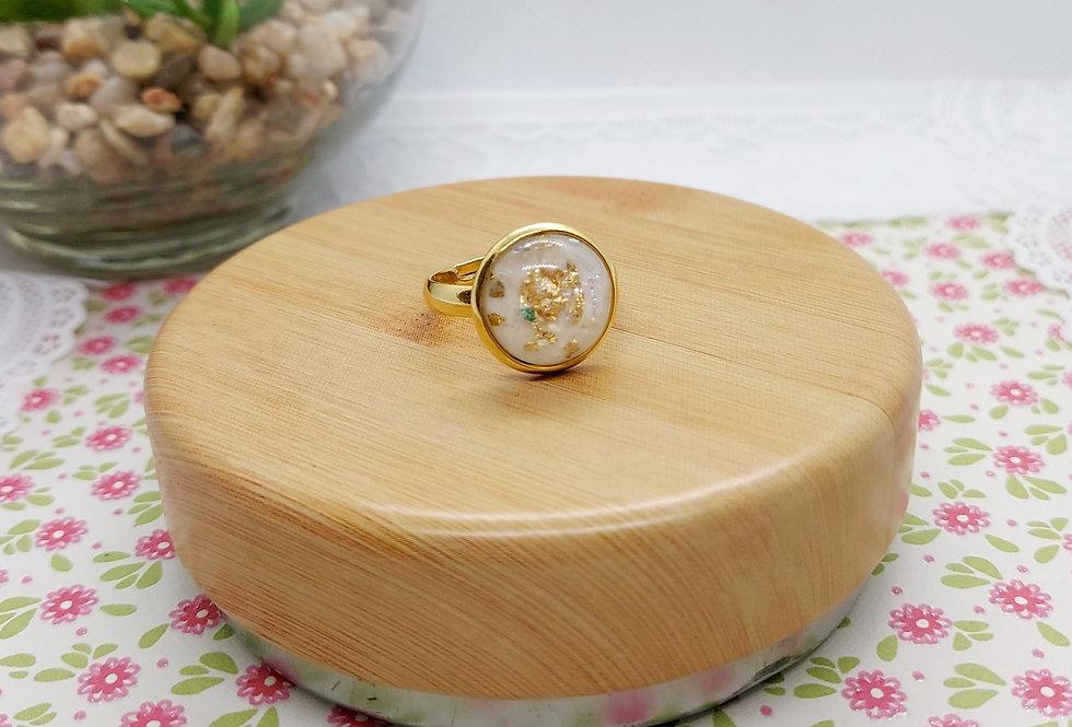 Verstelbare Stainless Steel Ring Goud