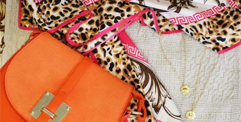 Trendy handtas - Oranje