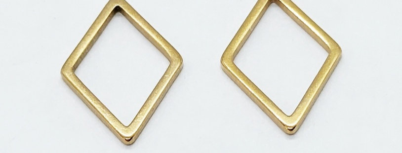 RVS Tussenstuk 15x10mm kleur: Stainless Steel Goud - 2 Stuks
