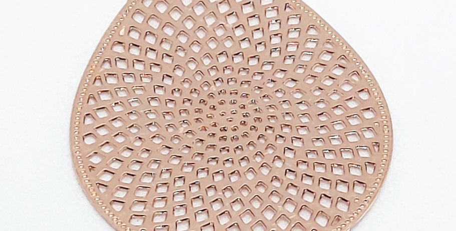 Bohemian hangers 3x2cm Rosegold - 2Stuks
