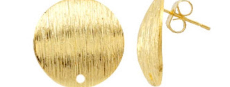 Metalen Earpins ca. 15mm kleur: Goud - 2 Stuks