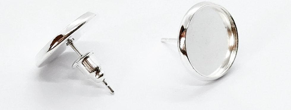 Oorbellen Setting voor 12mm Cabochon Nikkelvrij - 1 Paar