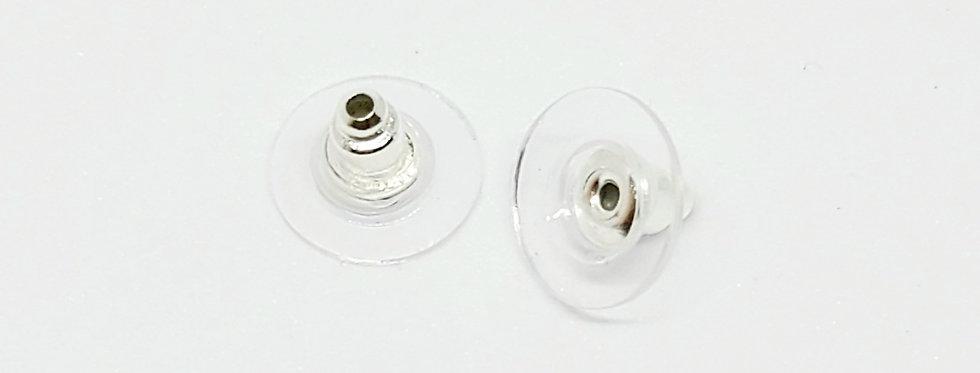 RVS oorstoppers Zilver - 10 Stuks
