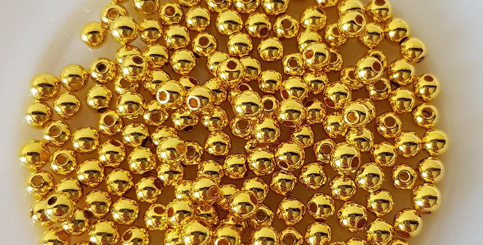 Parels 4mm 7gram - goud