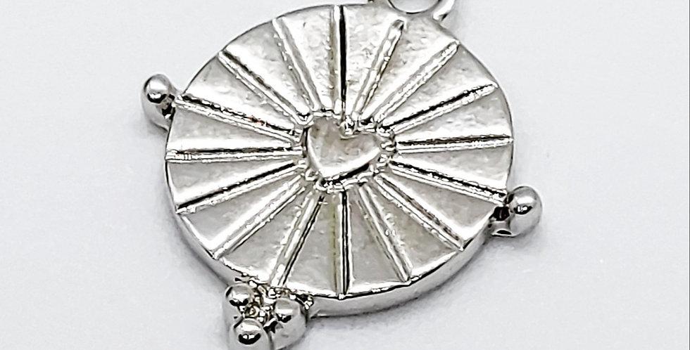 Metalen Coin Bedel 19x16mm - prijs per stuk