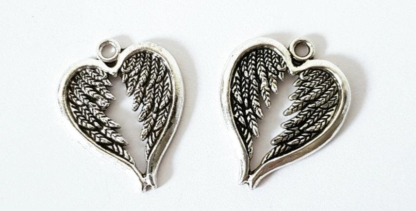 Metalen bedels Antiek Zilver 2.5cm - 2 Stuks