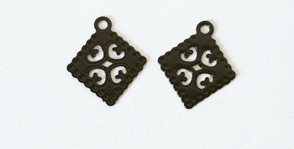 Hangers Zwart 1.5cm - 2 Stuks