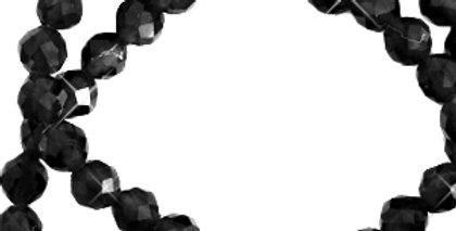 2 mm kralen natuursteen crystal facet geslepen Black - 175 Stuks