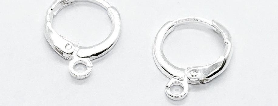Oorhangers 14x12mm Nikkelvrij kleur: Zilver - 4 Stuks