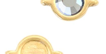 Metaal settings DQ rond 2 ogen voor SS20 flatback Goud (nikkelvrij) - 10stuks
