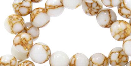 4 mm kralen natuursteen jade White-gold - 92 Stuks