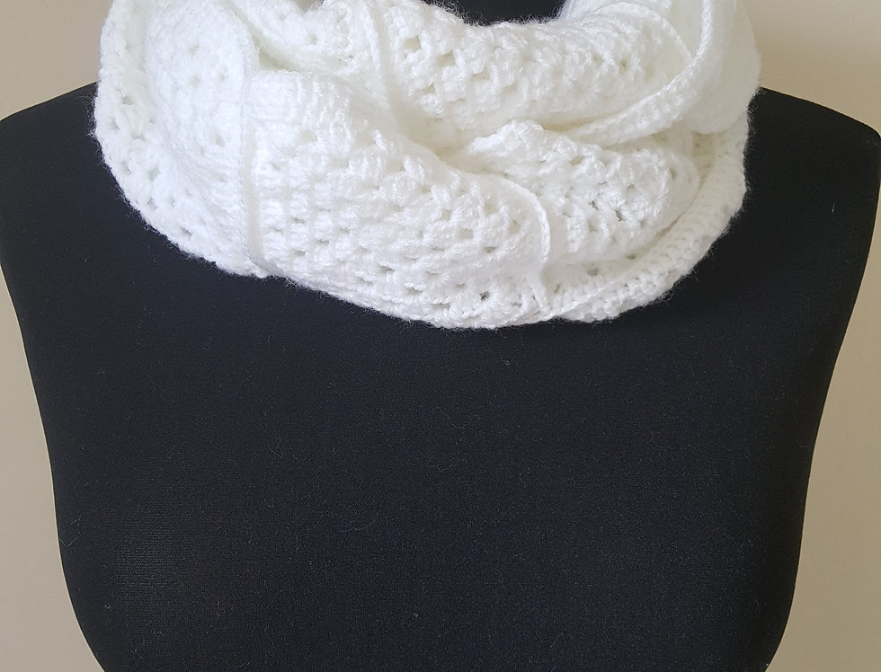 gehaakte sjaal - wit