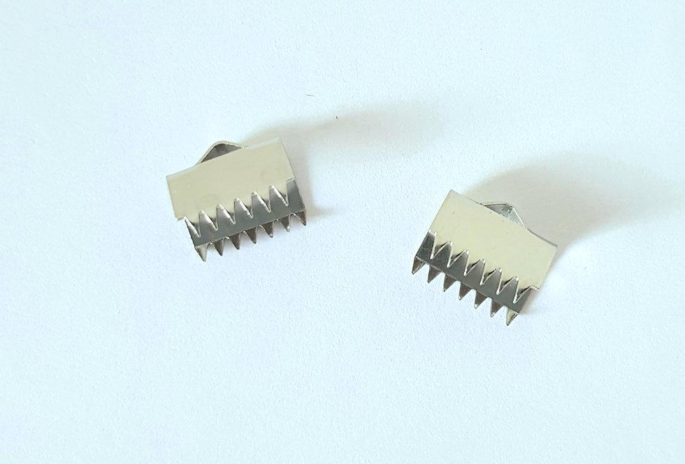 Lintklem 10 mm Zilver - 2 Stuks