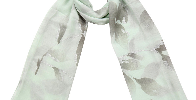 Mooie gekleurde sjaal met bloemenprint