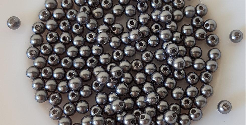 Parels 4mm 7Gram - Donkergrijs