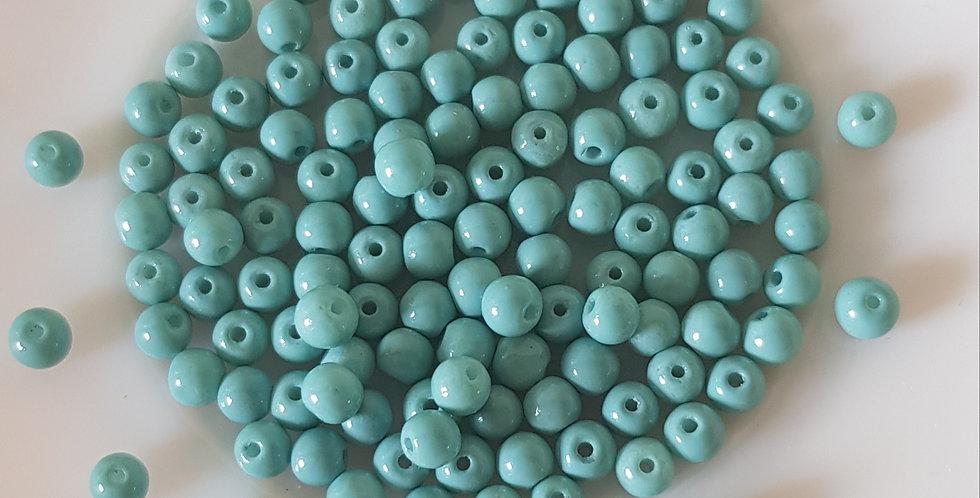 Glasparels 4mm 7 Gram - Blauw