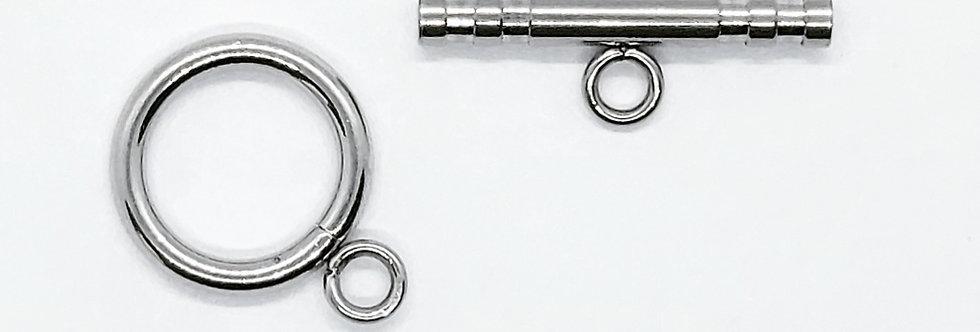 RVS Eindslot voor armband kleur: Antiek Zilver - 1 Set