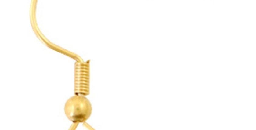 RVS Oorhangers kleur: Goud - 10 Stuks