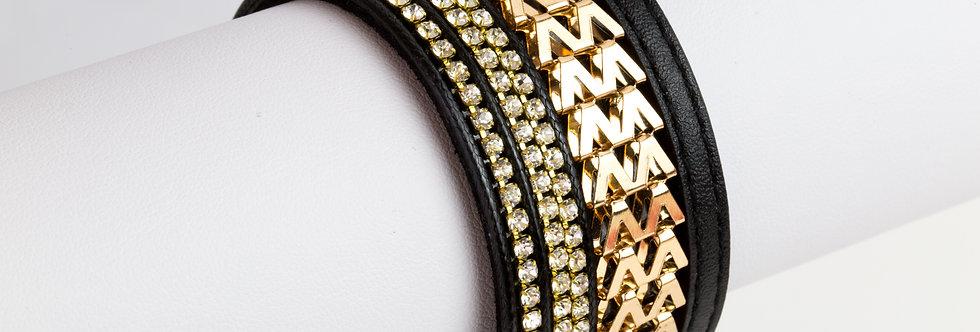 Armband - zwart/goud