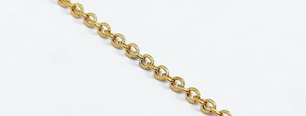 RVS ketting voor sieraden te maken 1.5mm Goud - 3 meter