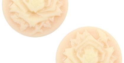Cabochons basic camee 12mm roos Light peach-beige - 4stuks