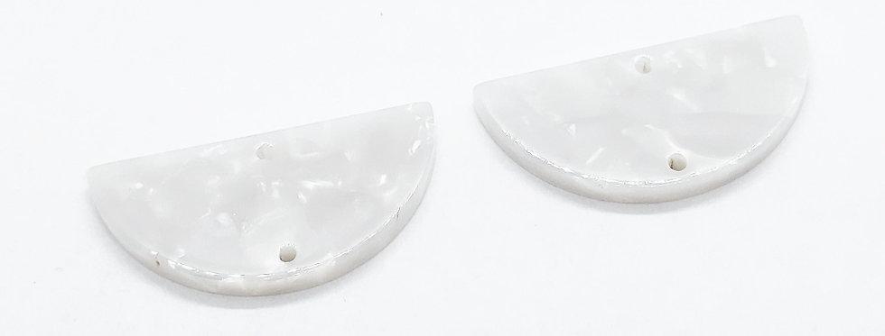 Hangers van Resin Tussenstuk 15x31mm - 2 Stuks