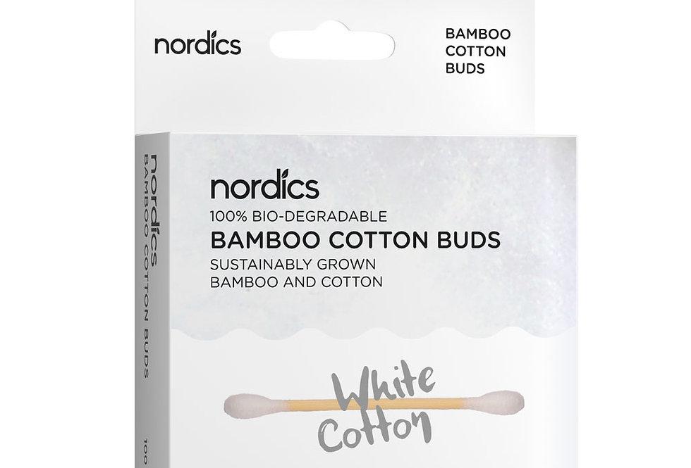 Biologische bamboe katoen wattenstaafjes wit - 100% afbreekbaar