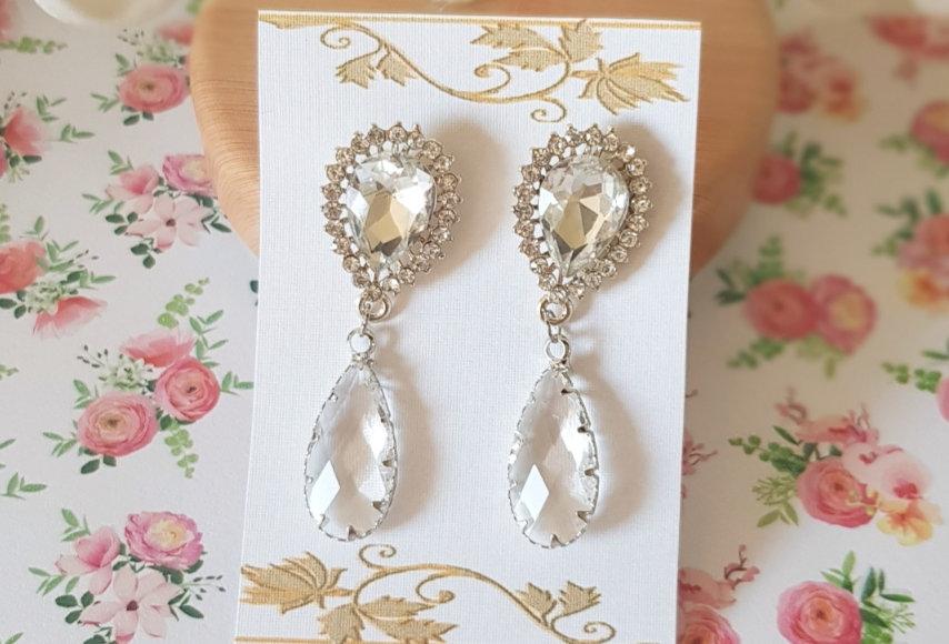 Handgemaakte oorbellen van Crystal Glass