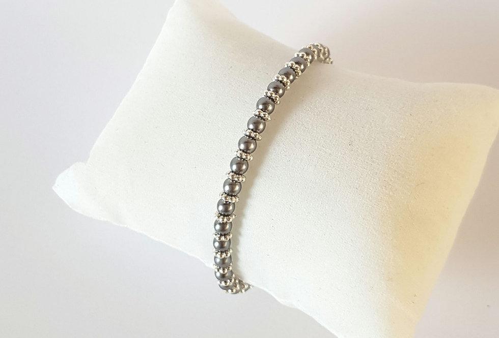 Handgemaakte armband met parels