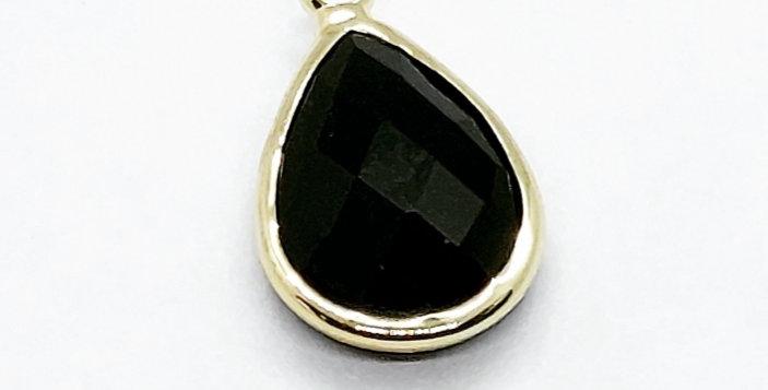 Hangers van crystal glass 10x17mm kleur: Goud/Zwart - 2 Stuks
