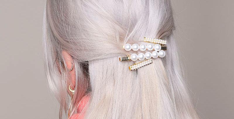 Haarclip met parels