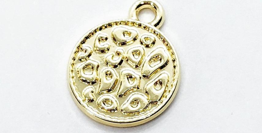 Metalen Coin Bedel 12mm - prijs per stuk