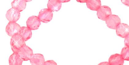 2 mm kralen natuursteen crystal facet geslepen Carnation pink - 175 Stuks