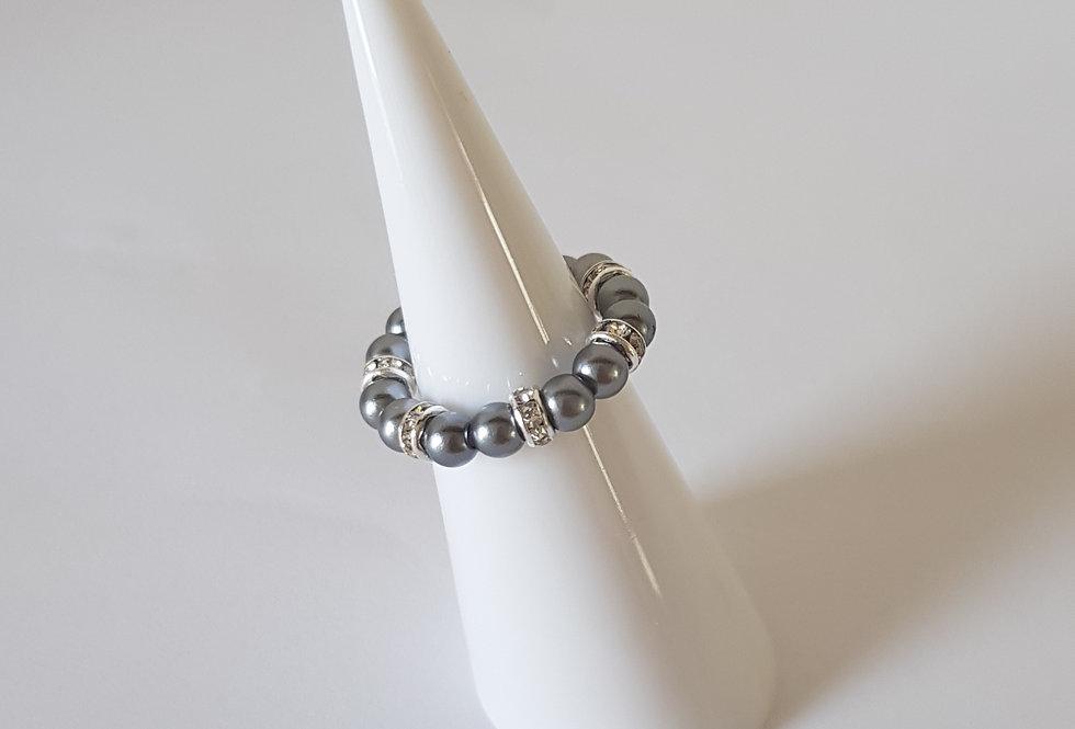 Handgemaakte ringen met parels en strass steentjes