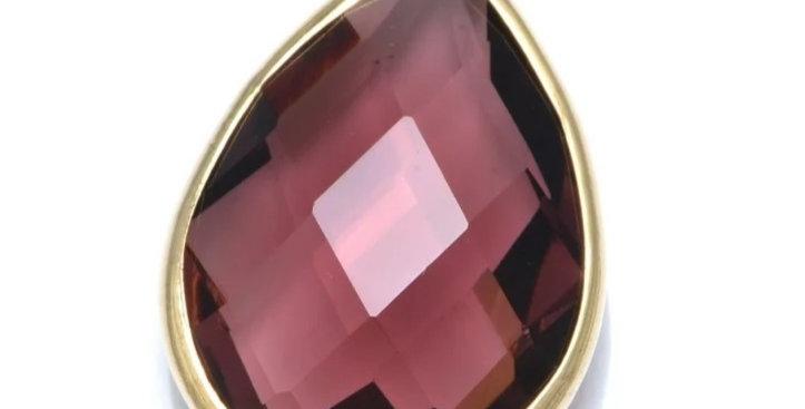 Hangers van Crystal Glass 21x13mm - 2 Stuks
