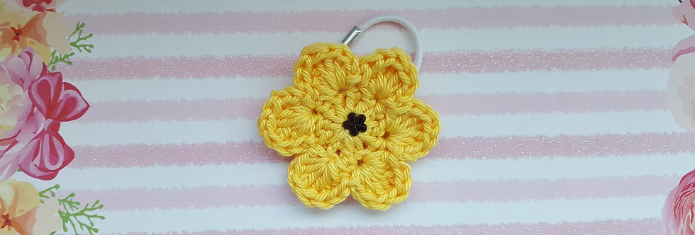 gehaakte bloem - geel