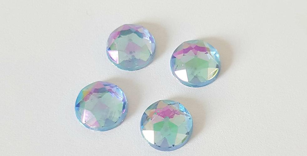 Gemstones voor 8mm Earpins - 6 Stuks