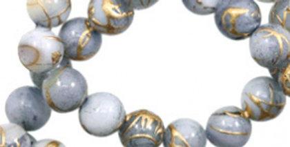 Schelp kralen 6 mm - 65stuks - Beschikbaar in meerdere kleuren