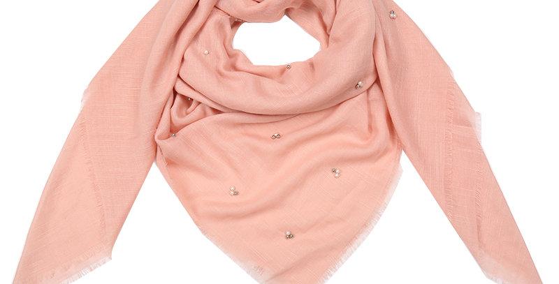 Sjaal met trendy accent van kralen