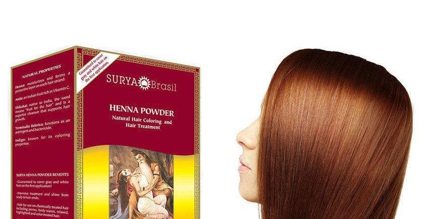 Henna Haarverf Powder Golden Brown 50g