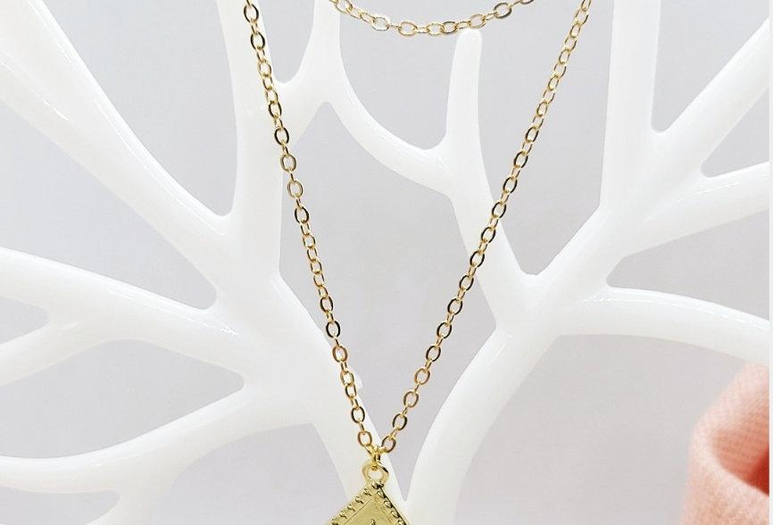 2 Laagse Halsketting kleur: Goud