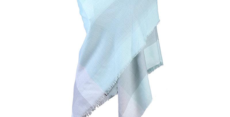 Vierkante sjaal met blokken print
