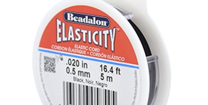 Rijgdraad elastiek Beadalon 0.5mm 5 meter Black