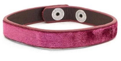 armband velvet Dark pink