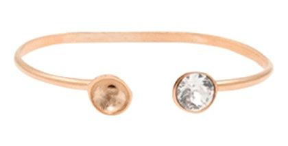 Metaal onderdelen DQ armband met settingen voor SS39 Rosé goud (nikkelvrij)