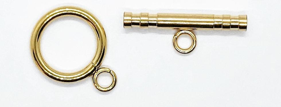 RVS Eindslot voor armband kleur: Goud - 1 Set