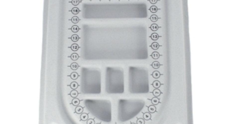 Rijgbord voor sieraden 21x16cm - 1 Stuk