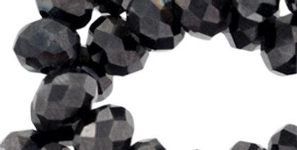Facet kralen 6x4 mm Dark brown metallic 100stuks